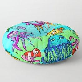 Sea Life Sampler Floor Pillow