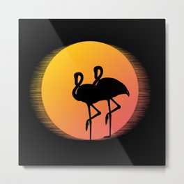 Flamingo Sunset Metal Print