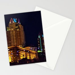 Omni Providence Hotel Night View - Providence, Rhode Island Stationery Cards