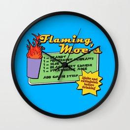 The Simpsons: Flaming Moe Wall Clock