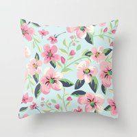 fancy Throw Pillows featuring Fancy. by Scarlais