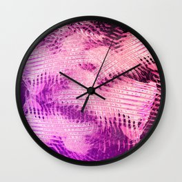 Glowing in Vivid Violet Magenta Wall Clock