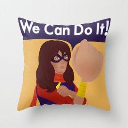 Kamala Khan Can Do It! Throw Pillow