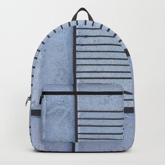 Concrete Stripe Blue Backpack