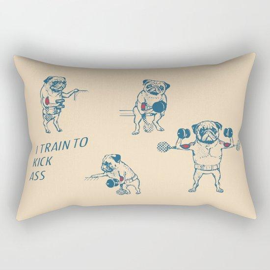 Pug Workout Rectangular Pillow