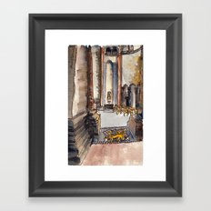 Lions and quickly Framed Art Print