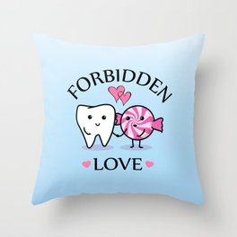 Forbidden Love Throw Pillow