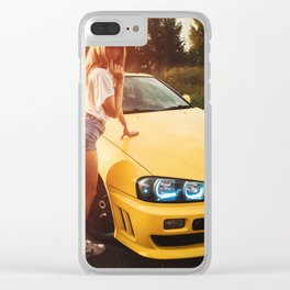 Skyline GTR r34 Clear iPhone Case