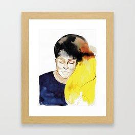 Dani with Balayage Hair Framed Art Print