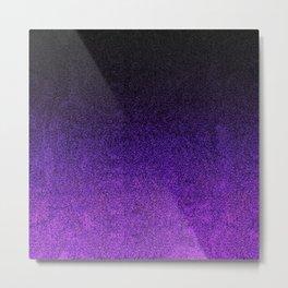Purple & Black Glitter Gradient Metal Print