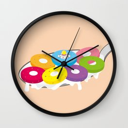 Space Odyssey | Astronaut Froot Loops | Space | Food | Breakfast | pulps of wood Wall Clock