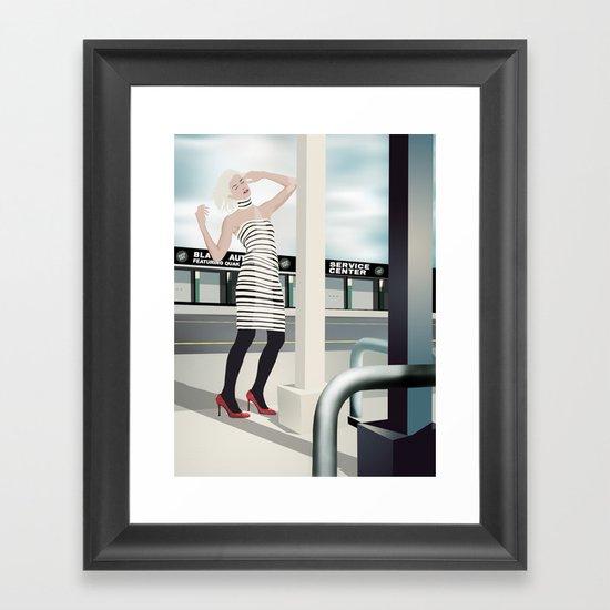 Diesel Street Framed Art Print