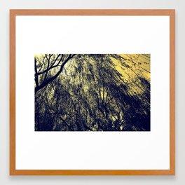 Beneath The Willow Tree Framed Art Print