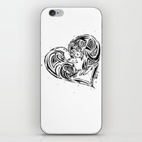 ferret iPhone & iPod Skins featuring Ferret Love by Mel Hampson
