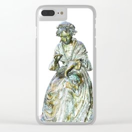The Leics Seamstress Statue Clear iPhone Case