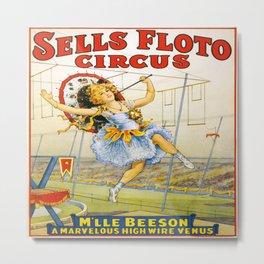 Vintage poster - Sells Floto Circus Metal Print