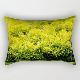 Taxus baccata Yew new shoots Rectangular Pillow