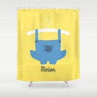 minion Shower Curtains featuring Minion by Jane Mathieu