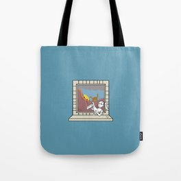 Plenty of imagination: the dinosaur's girl. Tote Bag