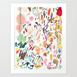 Studio days Art Print