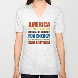 American Energy Unisex V-Neck