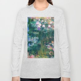 water lilies : Monet Long Sleeve T-shirt
