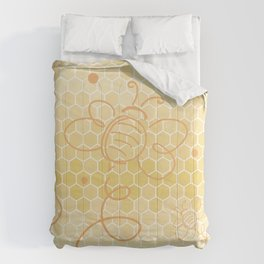"Honey ""Bee"" Kind - Be Kind Honeycomb Circle Comforters"