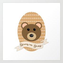 Señor Bear Art Print