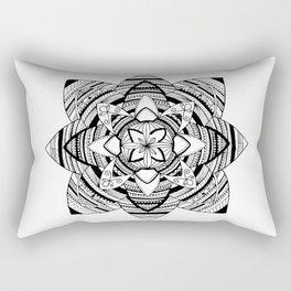 Wild black mandala on white Rectangular Pillow