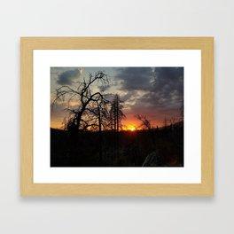 Groveland Sunset Framed Art Print