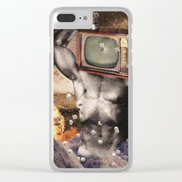 Cosmic Force Clear iPhone Case