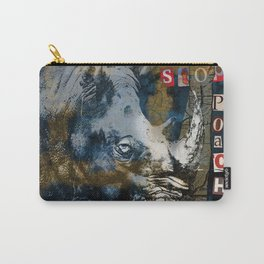 Stop Rhino Poachers Wildlife Conservation Art Carry-All Pouch