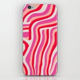 pink zebra stripes iPhone Skin
