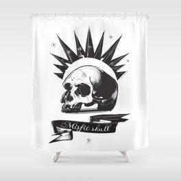 Misfit Skull Shower Curtain