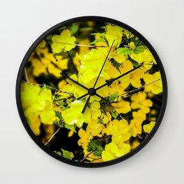 Flower in yellow Wall Clock
