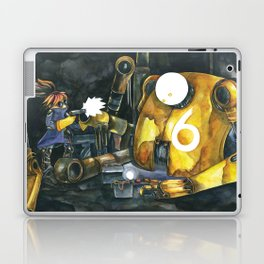 Moonbot #6: Yellow Laptop & iPad Skin