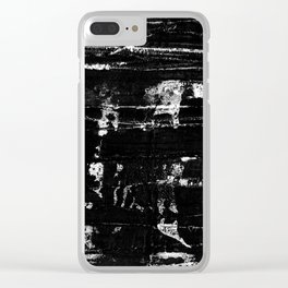 Distressed Grunge 102 in B&W Clear iPhone Case