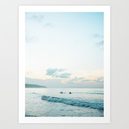 Once your board hits the water  | Surf travel photography print Art Print