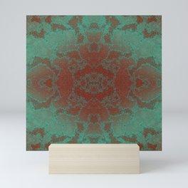 Kaleidoscope-patina ornament Mini Art Print
