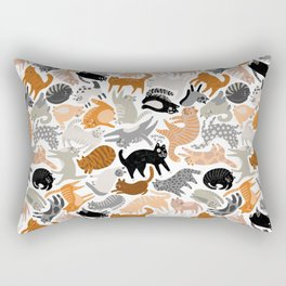 Cats Forever by Veronique de Jong Rectangular Pillow