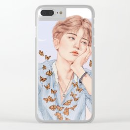 butterfly boy [chanyeol exo] Clear iPhone Case