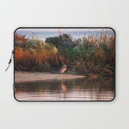 Heron at Sunrise  Laptop Sleeve
