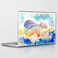 vegetables Laptop & iPad Skins featuring Vegetables by Elena_Voro