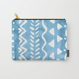 Loose boho chic pattern - blue Carry-All Pouch