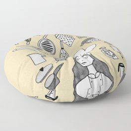 Let's cook together chef Floor Pillow