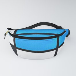 12,000pixel-500dpi - Composition With Large Blue Plane, Red, Black, Yellow, And Gray - Piet Mondrian Fanny Pack