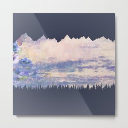 Mountains Fore Metal Print