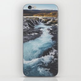 Bruarfoss, Golden Circle, Iceland iPhone Skin