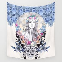 gemma Wall Tapestries featuring Topeng by Gemma Hodgson Design