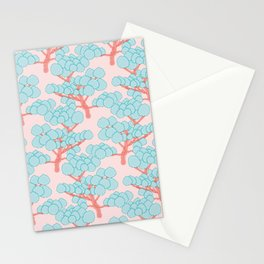 Doodle Forest Pattern Stationery Cards